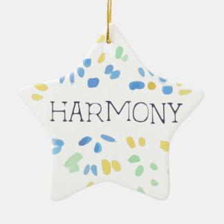 Beauté naturelle d'harmonie ornement étoile en céramique