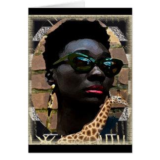 Beauté noire africaine carte de vœux