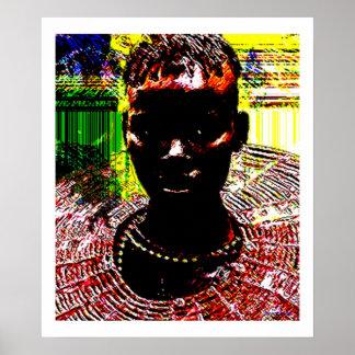 Beauté tribale africaine poster