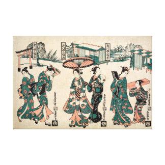 Beautés de Fukagawa. Triptyque Toiles