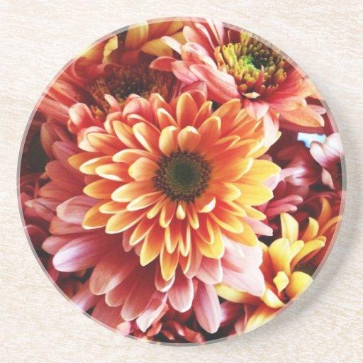 Beaux accessoires de cuisine de bouquet floral dessous de verres