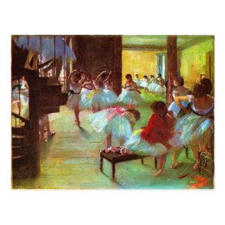 Beaux-arts colorés de ballerine d'Edgar Degas Carte Postale