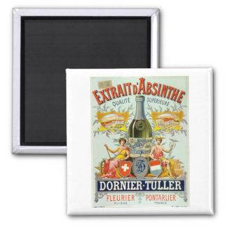 Beaux-arts d'affiche de d'Absinthe d'Extrait Magnet Carré