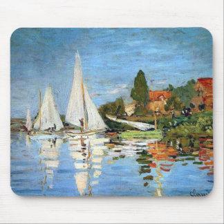 Beaux-arts de bateaux de Regetta par Monet Mousepa Tapis De Souris