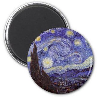 Beaux-arts de cru de nuit étoilée de Vincent van Magnet Rond 8 Cm