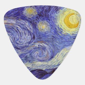 Beaux-arts de cru de nuit étoilée de Vincent van Onglet De Guitare