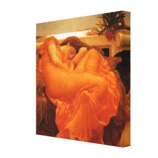 Beaux-arts de flamber juin Frederic Leighton Toile