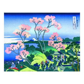 Beaux-arts de fleurs de cerisier de Hokusai de Prospectus 21,6 Cm X 24,94 Cm