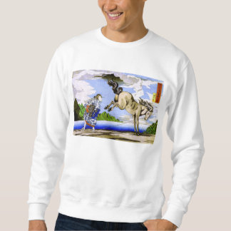 beaux-arts de Kuniyoshi de femme et de cheval de Sweatshirt