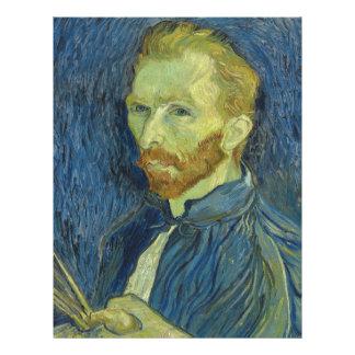 Beaux-arts de l'autoportrait de Vincent van Gogh Prospectus 21,6 Cm X 24,94 Cm