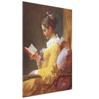 Beaux-arts de lecture de jeune fille de toiles
