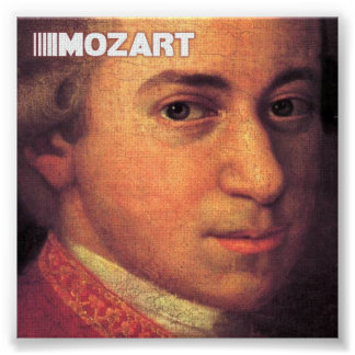 Beaux-arts de Mozart sur la toile Poster