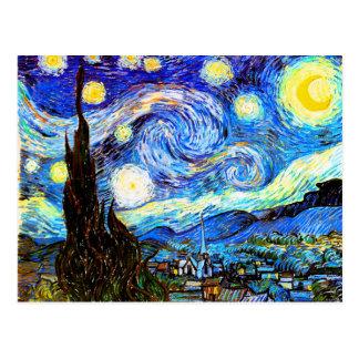 Beaux-arts de nuit étoilée de Van Gogh Cartes Postales