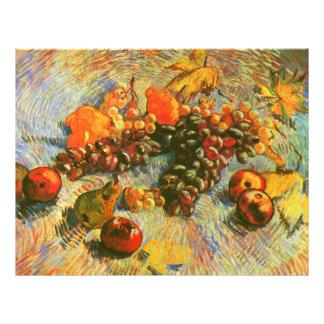 Beaux-arts de Van Gogh de citrons et de raisins de Prospectus 21,6 Cm X 24,94 Cm