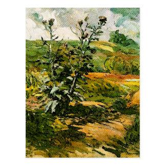 Beaux-arts de Van Gogh de deux chardons Carte Postale