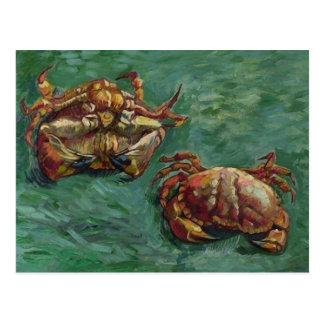 Beaux-arts de Van Gogh de deux crabes (F606) Carte Postale