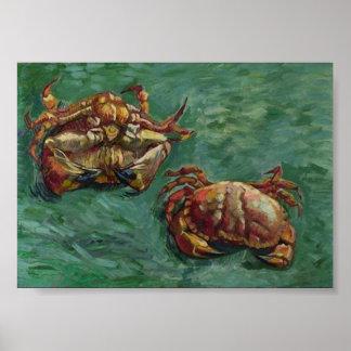 Beaux-arts de Van Gogh de deux crabes (F606) Posters