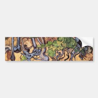 Beaux-arts de Van Gogh de racines et de troncs Autocollant Pour Voiture