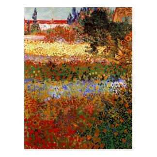 Beaux-arts de Van Gogh du jardin fleurissant Cartes Postales