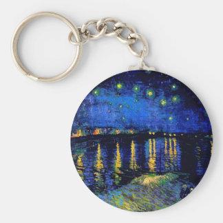 Beaux-arts du Rhône de nuit étoilée de Van Gogh (F Porte-clés