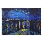 Beaux-arts du Rhône de nuit étoilée de Van Gogh (F Sets De Table