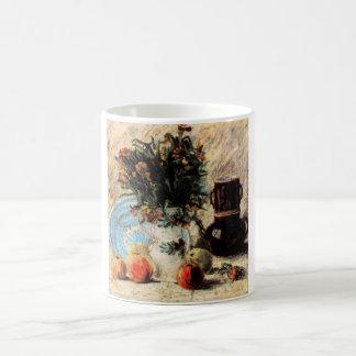 Beaux-arts, fleurs, cafetière et fruit de Van Gogh Mug