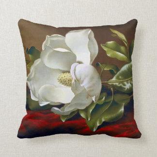 Beaux-arts grandiflora de fleur de magnolia coussin décoratif
