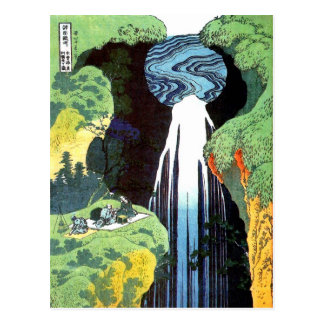 Beaux-arts japonais de cascade de Hokusai Amida d' Carte Postale