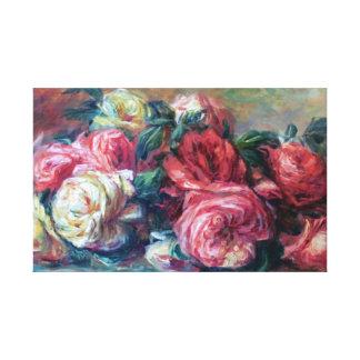 Beaux-arts jetés de Renoir de roses Toile