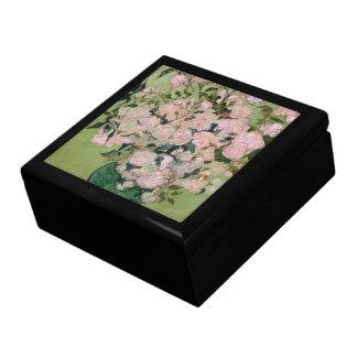 Beaux-arts roses de Van Gogh de roses Grande Boîte À Bijoux Carrée