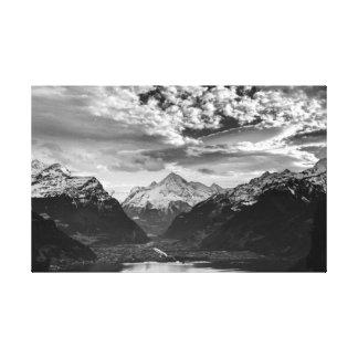 Beaux-arts suisses PrintPoster de toile d'Alpes de