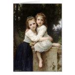 Beaux-arts vintages de deux soeurs par la carte de