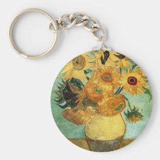 Beaux-arts vintages des tournesols de Van Gogh (F4 Porte-clef