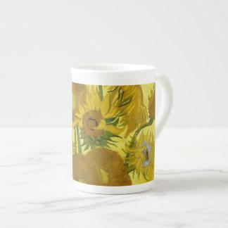 Beaux-arts vintages des tournesols de Van Gogh Mug En Porcelaine