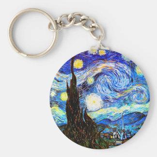 Beaux-arts vintages étoilés de la nuit de Van Gogh Porte-clés