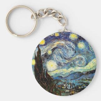 Beaux-arts vintages étoilés de la nuit de Van Gogh Porte-clef