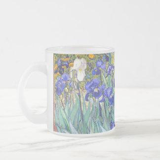 Beaux-arts vintages floraux d'iris de Vincent van Mug En Verre Givré