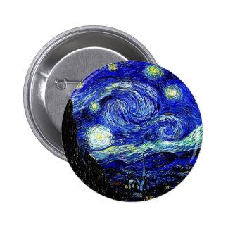 beaux-arts vVan de nuit étoilée de Gogh Pin's