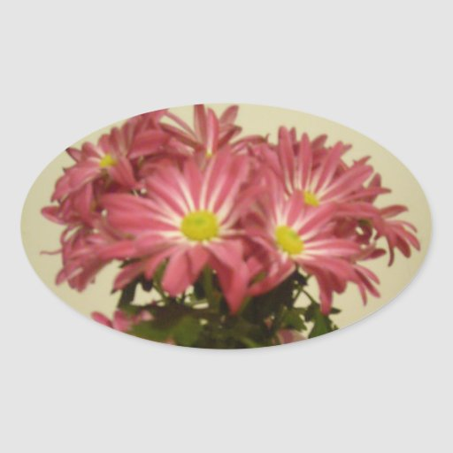 beaux autocollants de fleurs