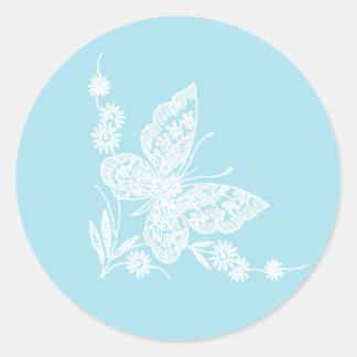 Beaux autocollants de mariage de papillon