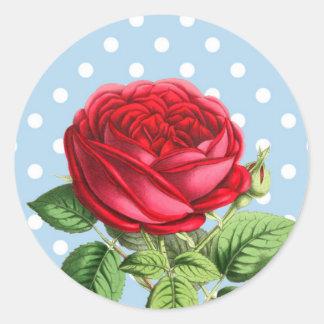 Beaux autocollants de rose rouge
