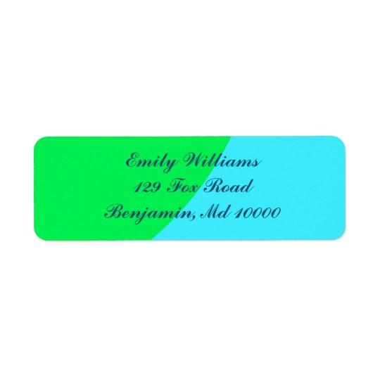 Beaux bleu et vert étiquettes d'adresse retour