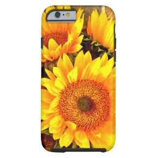 Beaux cadeaux de bouquet de tournesol coque tough iPhone 6