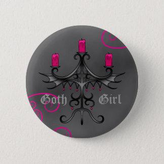 Beaux candélabres gothiques sur la grunge grise badge