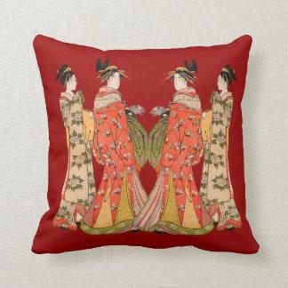 Beaux carreaux japonais de conception d'art oreillers