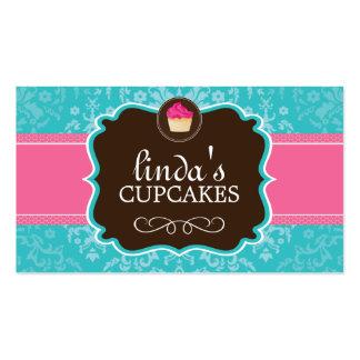 Beaux cartes de visite de petit gâteau de damassé carte de visite standard
