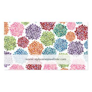 Beaux cartes de visite floraux de coutume de fleur modèle de carte de visite