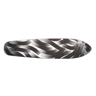 Beaux cheveux noirs skateboards cutomisables