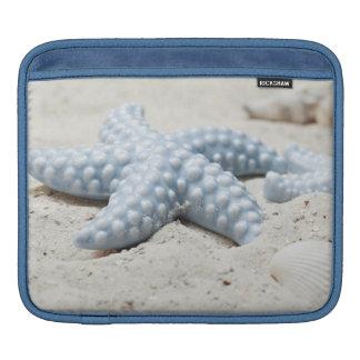 Beaux coquille et sable d'étoile de mer de plage poches pour iPad