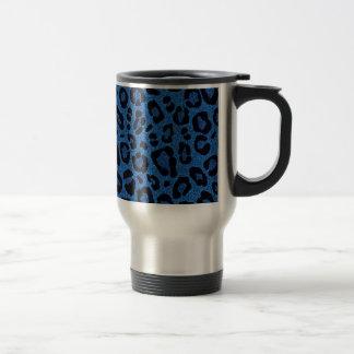 Beaux effets bleus frais de scintillement de peau mug de voyage